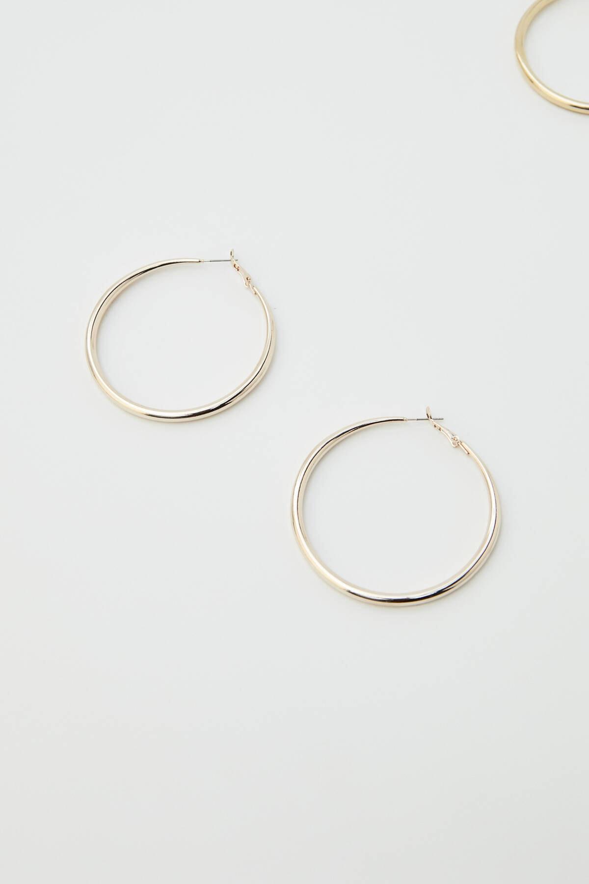 Pull & Bear Kadın Gümüş Karma Renkli Halka Küpe Seti 09996384 3