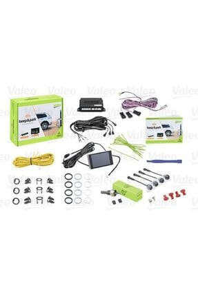 Valeo Park Sensoru (kit) No.2 Arka Taraf Algilama - 4 Sensor, Sesli Ikaz + Kucuk Ekran- 0
