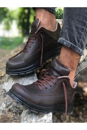 Mida Shoes Erkek Kahve Spor Hakiki Deri Botu 0