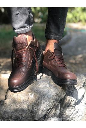 Mida Shoes Erkek Kahve Spor Hakiki Deri Botu 1