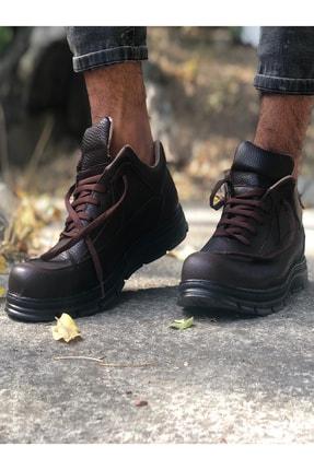 Mida Shoes Erkek Kahve Spor Hakiki Deri Botu 2