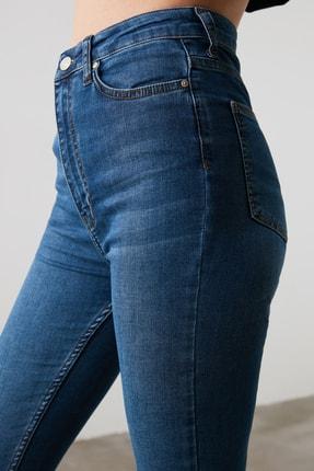 TRENDYOLMİLLA Mavi Yüksek Bel Skinny Jeans TWOAW21JE0513 2