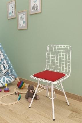 Evdemo Çocuk Sandalyesi Tel Kırmızı 0