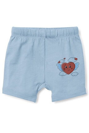 Angemiel Erkek Bebek Mavi Kanatlı Kalp Şort 0