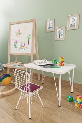 Evdemo Çocuk Masa Sandalye Takımı Mürdüm 0