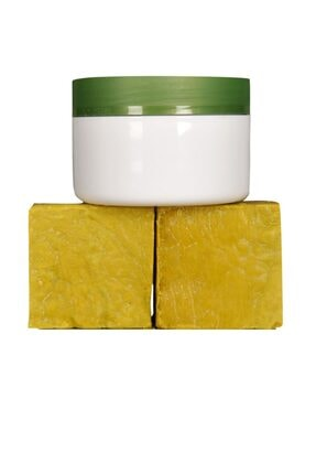 EVİN SİİRT ÜRÜNLERİ 250 Gr( 2 Kalıp) Yeşil Siirt Bıttım Sabunu + 1 Adet Bıttım Kremi 0
