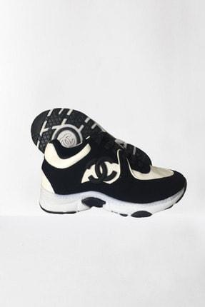 chance chanel Kadın Siyah Spor Ayakkabı 0