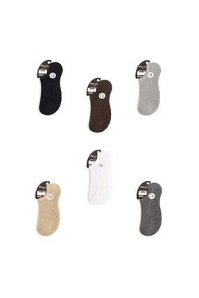 Menmod Erkek Sneakers Çorap Kaydırmaz Taban 4lü 0