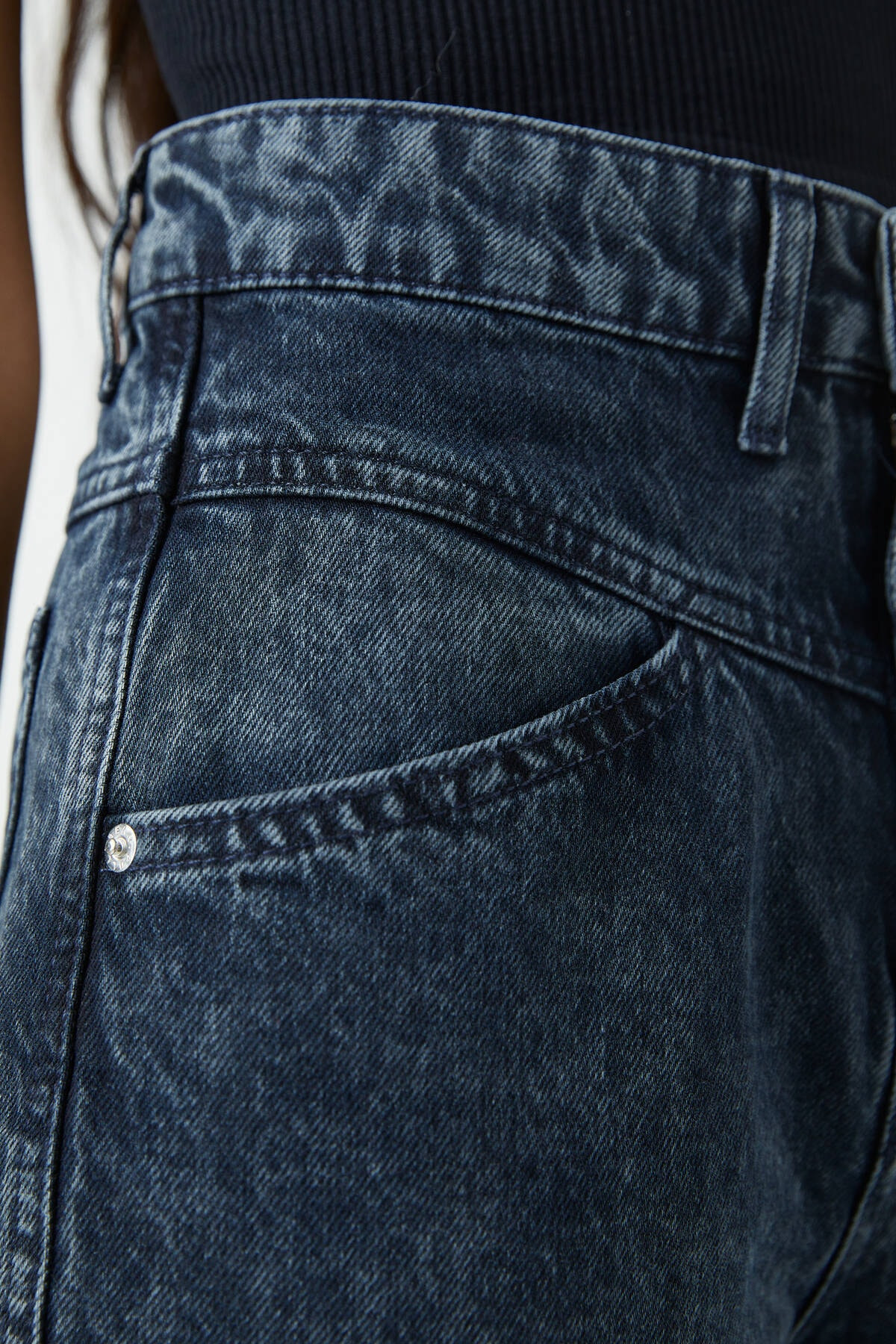 Pull & Bear Kadın Siyah Yüksek Bel Straight Fit Jean 09683335 1