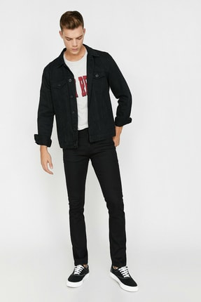 Koton Erkek Siyah Brad Jean Pantolon 0KAM43906LD 1