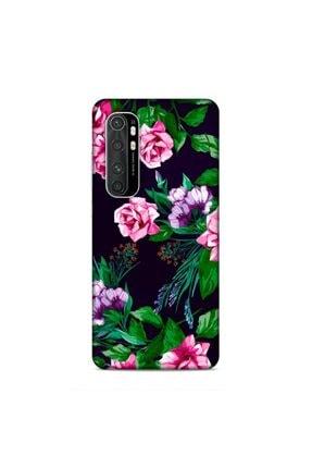 Pickcase Xiaomi Mi Note 10 Lite Kılıf Desenli Arka Kapak Pembe Çiçekler 0
