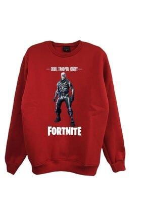 fame-stoned Unisex Kırmızı Baskılı Sweatshirt 0