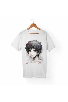 Alfa Tshirt Tokyo Ghoul Kaneki Beyaz Tişört 0