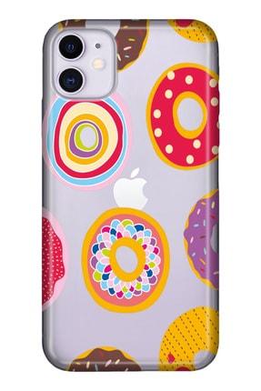 """Cekuonline Iphone 12 Mini 5.4"""" Tıpalı Kamera Korumalı Silikon Kılıf - Donut Love 0"""