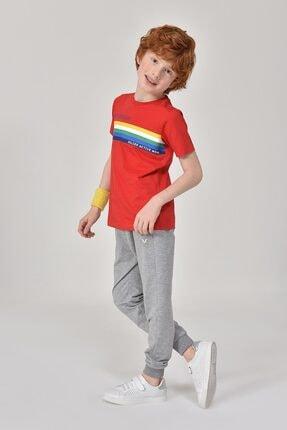 bilcee Unisex Çocuk Kırmızı T-Shirt GS-8145 1