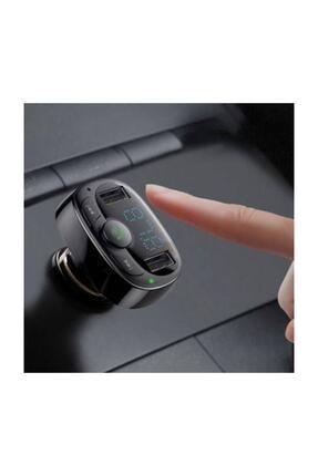 Baseus Orijinal Bluetooth Aktarım Mp3 Araç Kiti 2 Usb Çıkışlı Araç Şarjı, Araç Müzik Kiti Ve Şarjı 0
