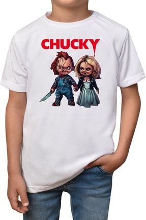 Çocuk Beyaz Chucky T-shirt Chucky-t-3