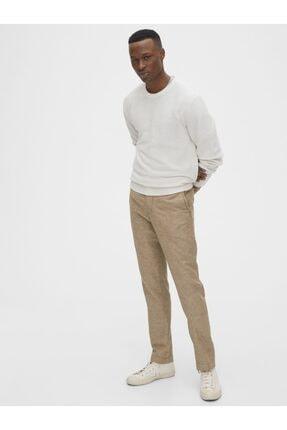 GAP Slim Fit Keten Khaki Pantolon 2