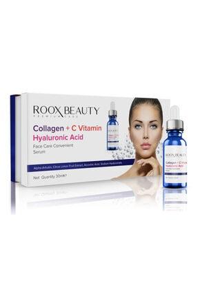 Roox Beauty Kolajen - C Vitamini - Hyaluronik Asit Aydınlatıcı Ve Kırışıklık Karşıtı Yüz Serumu 30 Ml 0