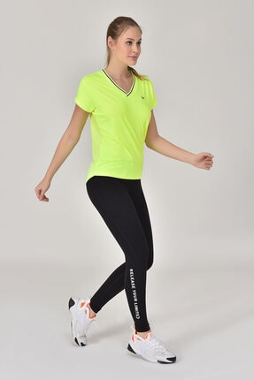 bilcee A.Yeşil Kadın T-Shirt GS-8029 2