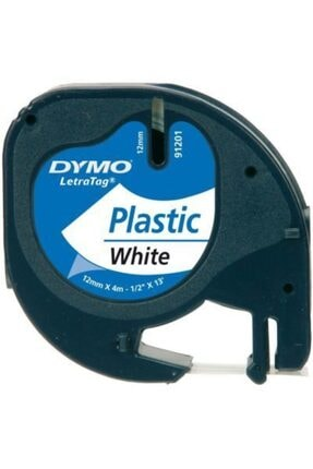 Dymo 59422 Letratag 12 Mm X 4 Mt Beyaz Plastik Şerit (91201) 0