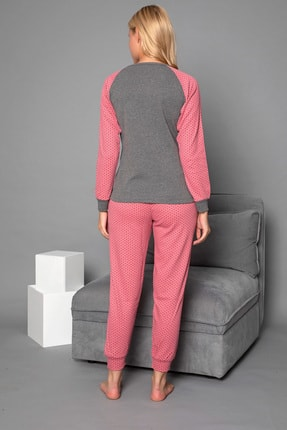 Strawberry Kadın Gül Kurusu Pamuklu Interlok Pijama Takimi 4