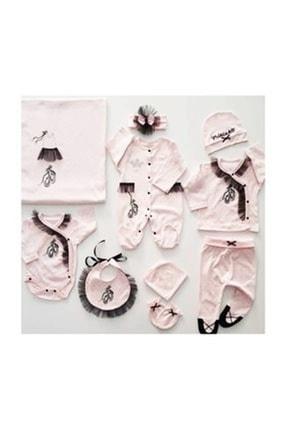 Eda Baby Kız Bebek Pembe Balerin Hastane Seti 0