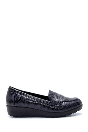 Derimod Kadın Lacivert Yılan Derisi Desenli Ayakkabı 0
