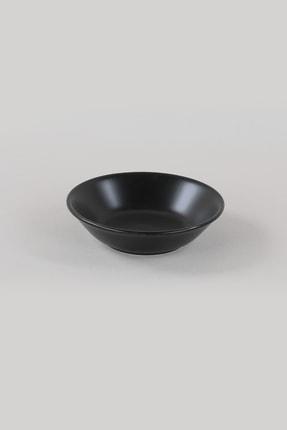 Keramika Mat Siyah Hitit  Yemek Tabağı 18 cm 6 Adet 1