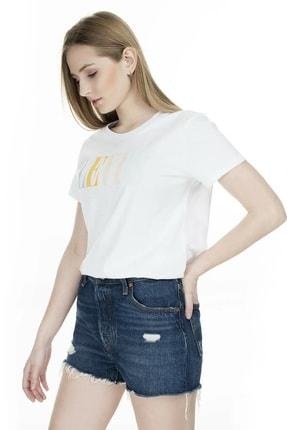 Levi's Kadın Beyaz The Perfect 90'S Serif T-Shirt 17369-0969 3