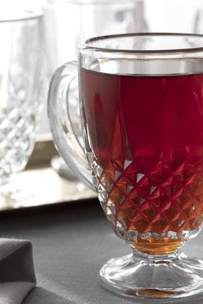 English Home Rich Cam 4'lü Kulplu Çay Bardağı 150 Ml Şeffaf 1