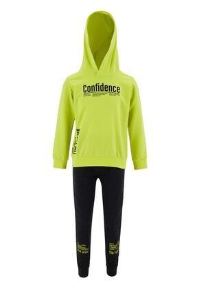Defacto Erkek Çocuk Yazı Baskılı Sweatshirt ve Jogger Eşofman Alt Takım 1