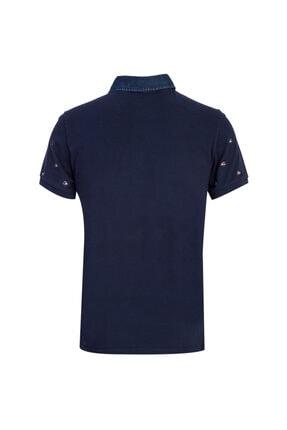 Kiğılı Polo Yaka Slim Fit Baskılı Tişört 1