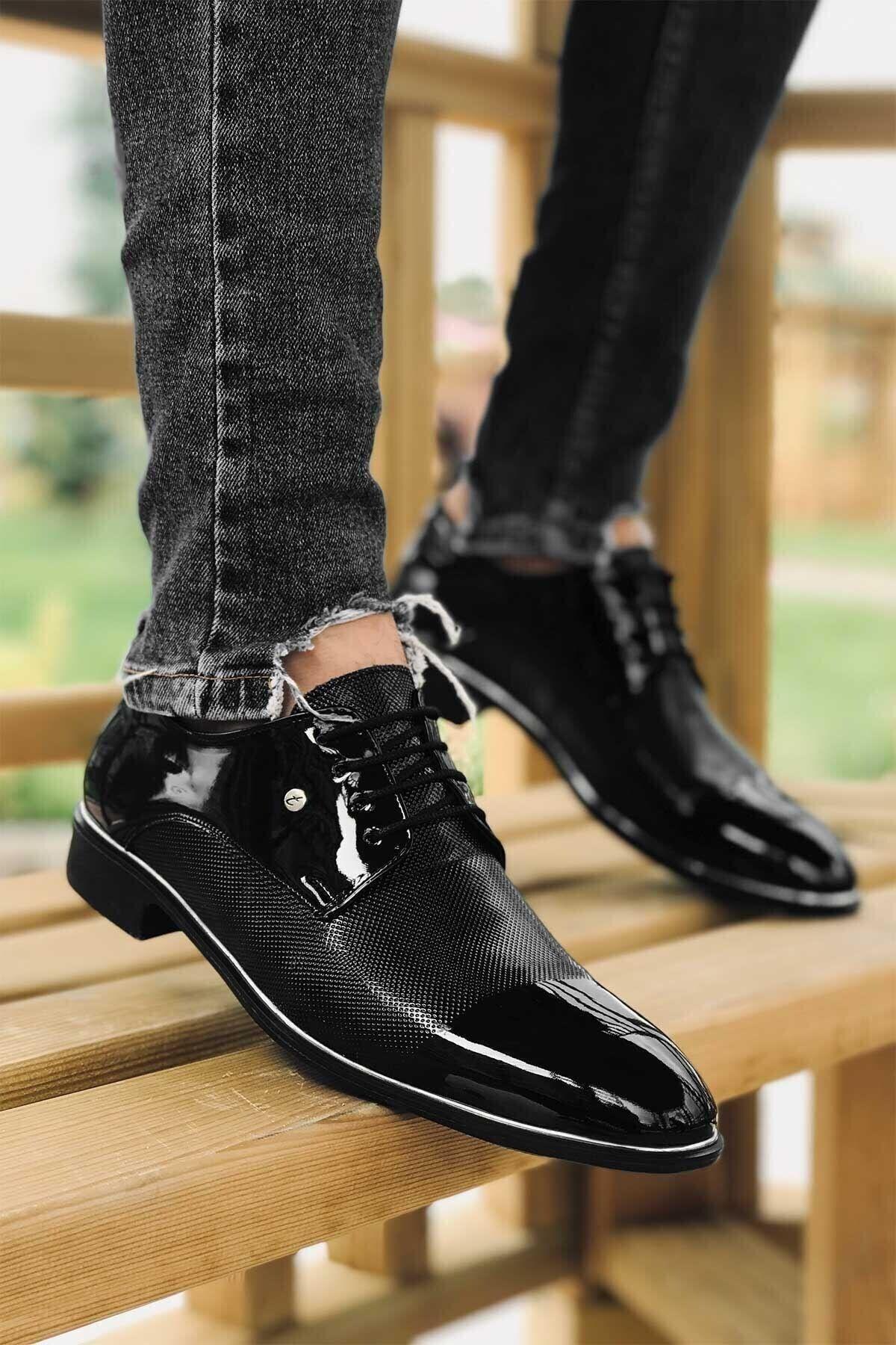 Tomms Damatlık Rugan Klasik Erkek Ayakkabı 573-1