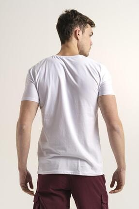 Oksit Riley V Yaka Slim Fit Basic Erkek Tshirt 2