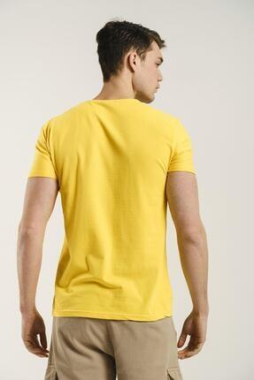 Oksit Riley V Yaka Slim Fit Basic Erkek Tshirt 3