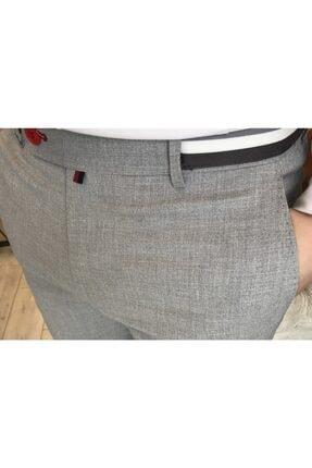 TerziAdemAltun Italyan Stil Slim Fit Erkek Kumaş Pantolon Gri T4279 2