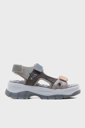 LuviShoes Kadın Buz Mavisi Bantlı Sandalet 4