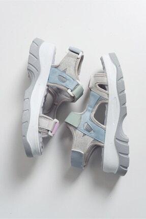 LuviShoes Kadın Gri Sandalet 4740 3