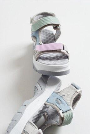 LuviShoes Kadın Gri Sandalet 4740 4