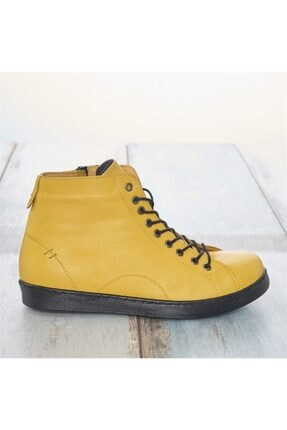 LuviShoes Sarı Cilt Kadın Bot 2