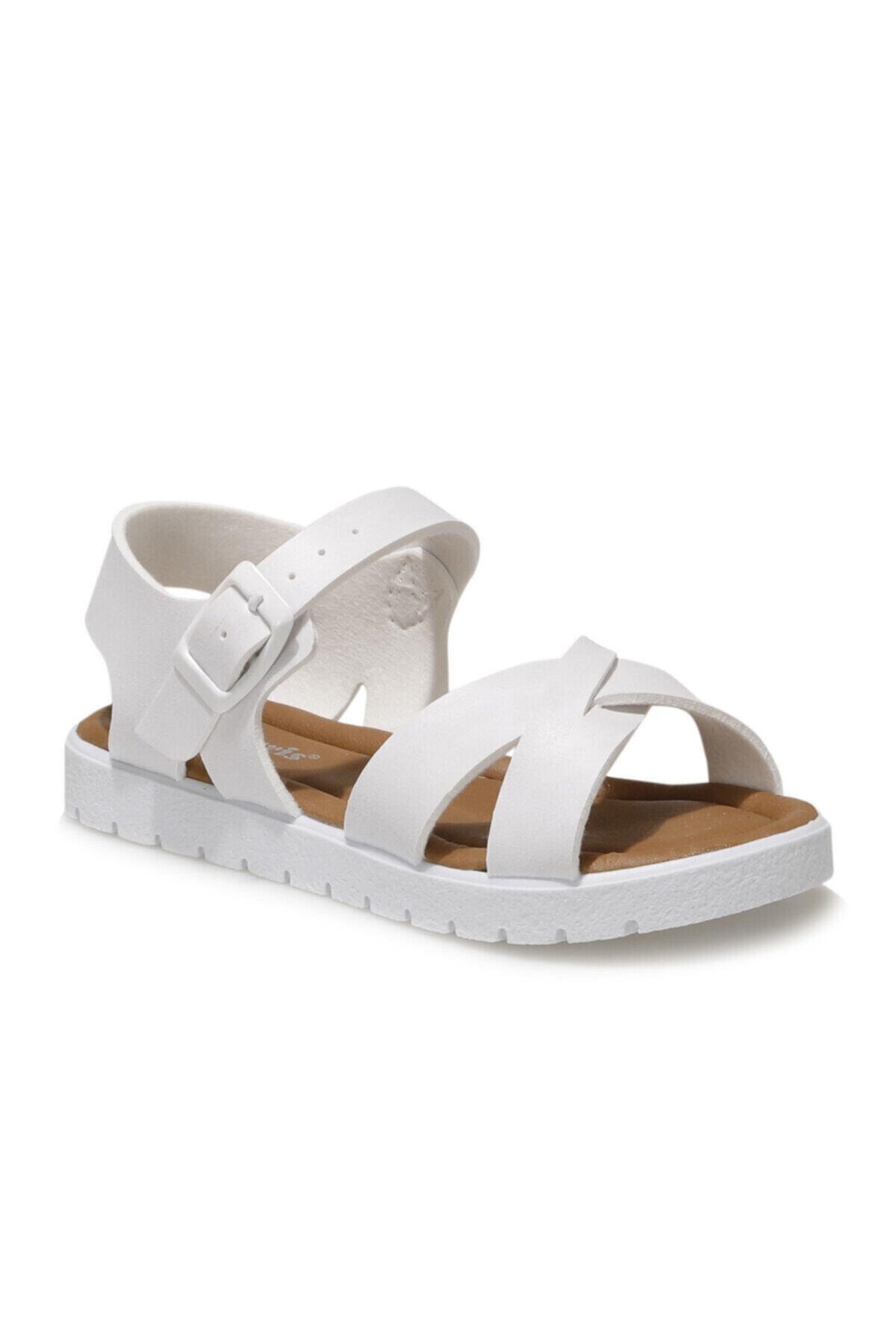 508159.P1FX Beyaz Kız Çocuk Sandalet 101010671