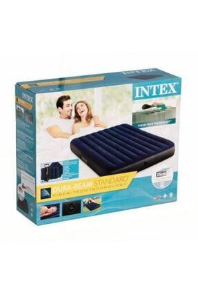 Intex Fiber-tech Çift Kişilik Şişme Yatak Set Kamp Yatağı 2 Adet Yastık Ve Pompa Dahil-64765 0