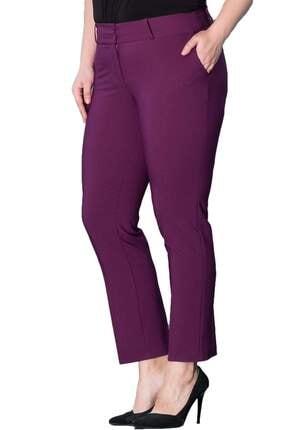 Hanezza Kadın Mor Bilek Boy Cepli Pantolon PT2136 0