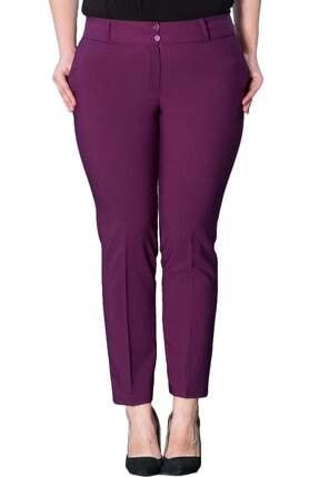 Hanezza Kadın Mor Bilek Boy Cepli Pantolon PT2136 1