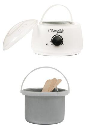 Smoothly Isı Ayarlı Sir Ağda Makinesi, Kalıp Ağda Boncuk Ağda Konserve Ağda Uyumlu Ağda Kazanı Beyaz Renk 0