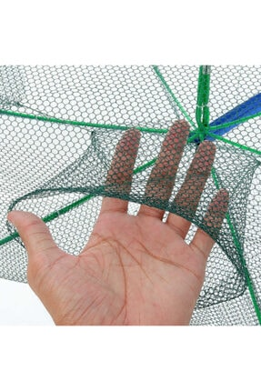 SARFEX Balık Yengeç Tuzağı 6 Girişli Katlanır Balık Ağı Tuzak 3