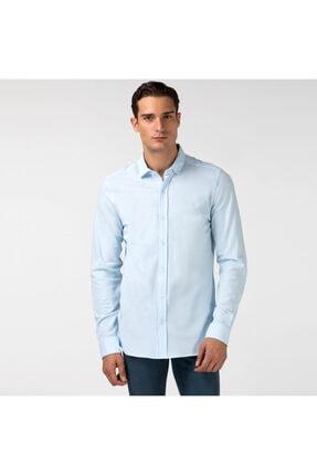Erkek Slim Fit Slim Fit Mavi Gömlek TYC00050860692