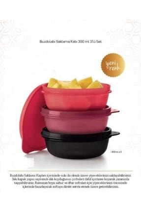 Tupperware Şeker Kaplar 300 Ml 3'lü Yeni Renk 1