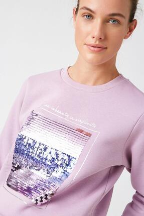 Koton Kadın Lila Sweatshirt 1KAK13681EK 1
